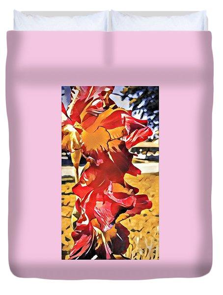 Midcentury Floral Print 001 Duvet Cover