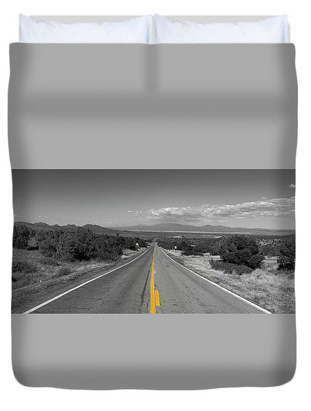 Middle Of The Road Duvet Cover