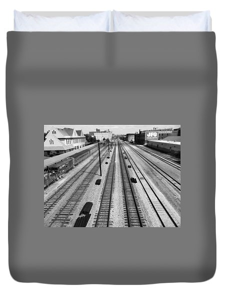 Middle Of The Tracks Duvet Cover