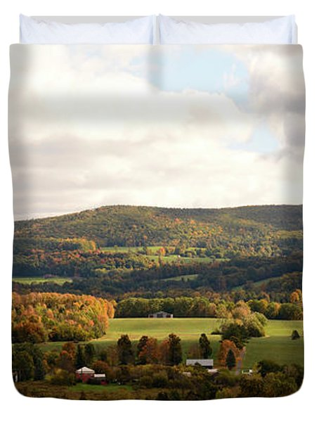 Duvet Cover featuring the photograph Middleburg In New York by Angie Tirado