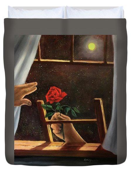 Midnight Romance. Romance De Medianoche Duvet Cover