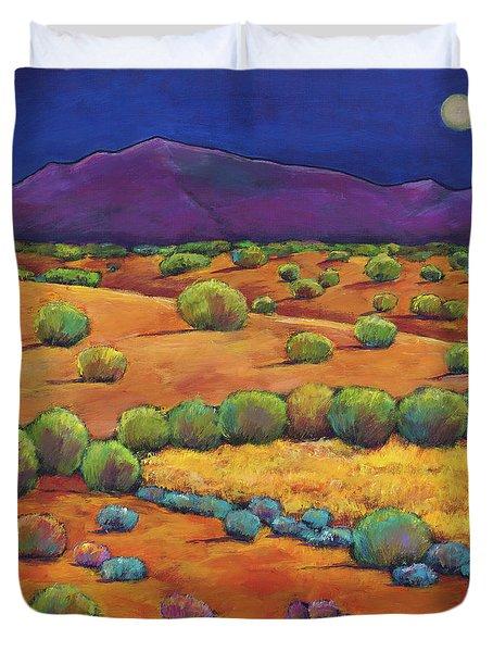 Midnight Sagebrush Duvet Cover