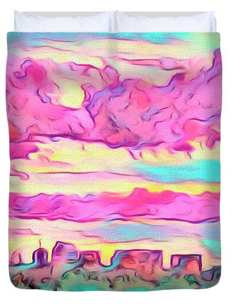 Mile High Sunset Duvet Cover