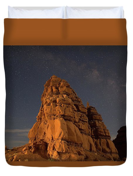 Milky Way On The Rocks Duvet Cover