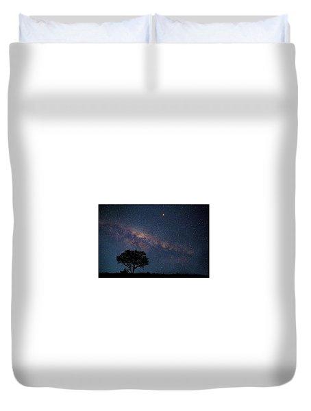 Milky Way Over Africa Duvet Cover