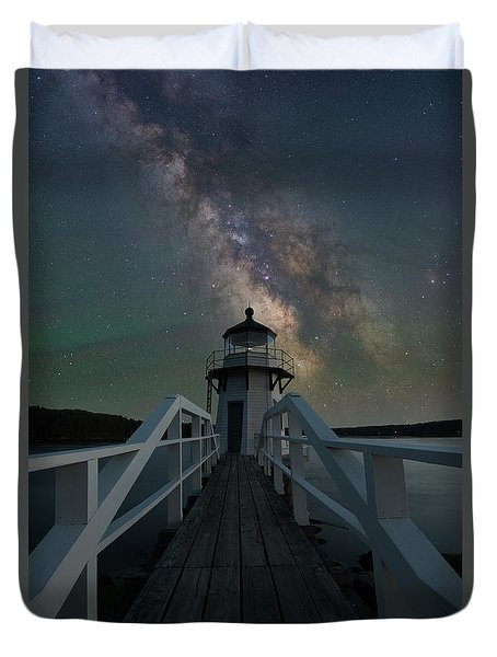 Milky Way Over Doubling Point Duvet Cover