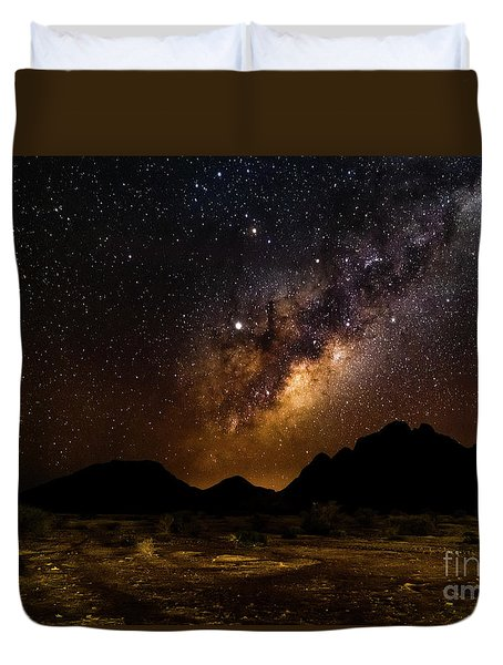 Milkyway Over Spitzkoppe 2, Namibia Duvet Cover