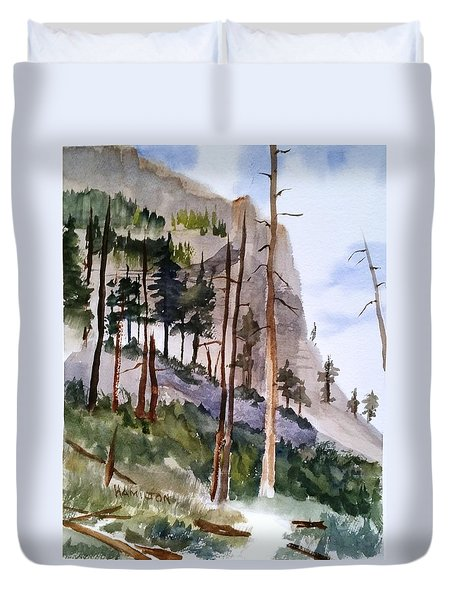 Mill Creek Canyon Duvet Cover