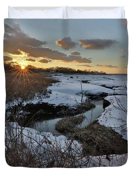 Mill Creek Sunset Duvet Cover
