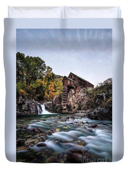Mill On Crystal River Duvet Cover