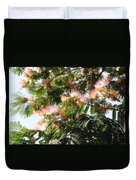 Mimosa Tree Flowers Duvet Cover