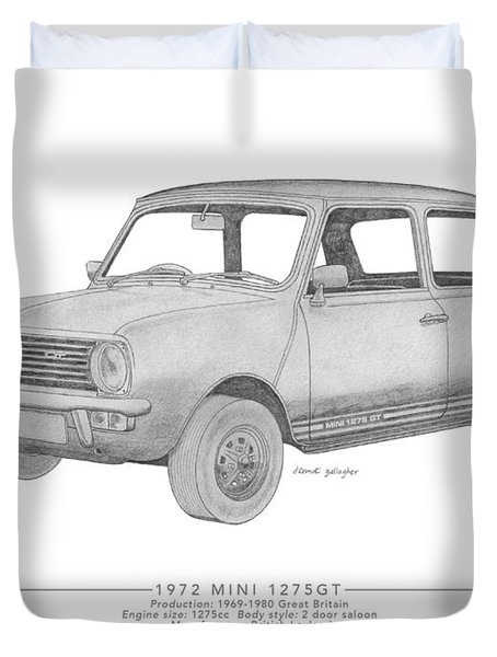 Mini 1275gt Saloon Duvet Cover