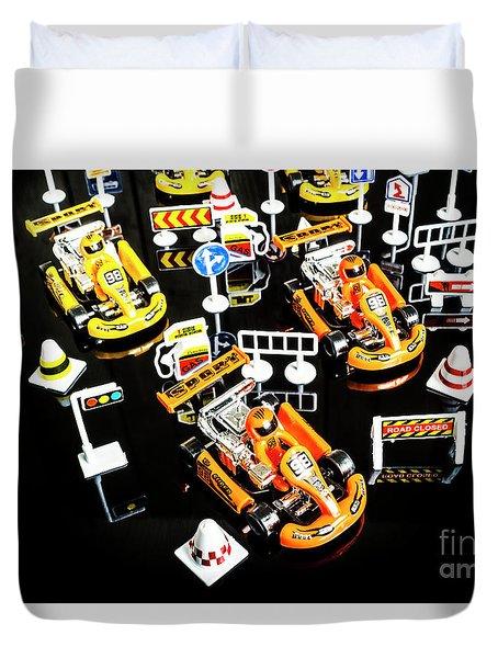 Miniature Motorsports Duvet Cover