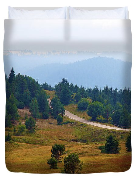 Duvet Cover featuring the photograph Misty Afternoon by Milena Ilieva