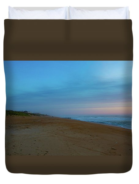 Duvet Cover featuring the photograph Misty Morning by Lora J Wilson