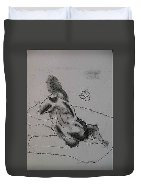 model named Chieh one Duvet Cover