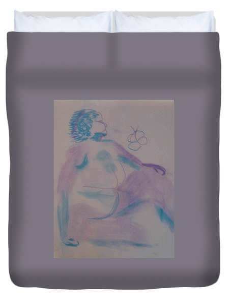 model named Helene Duvet Cover