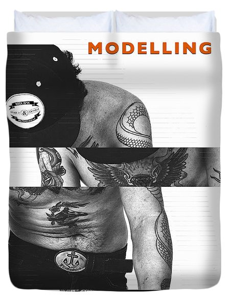 Modelling Can You Cut It? Duvet Cover