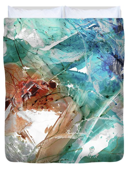 Modern Abstract Art - Perfect Timing - Sharon Cummings Duvet Cover