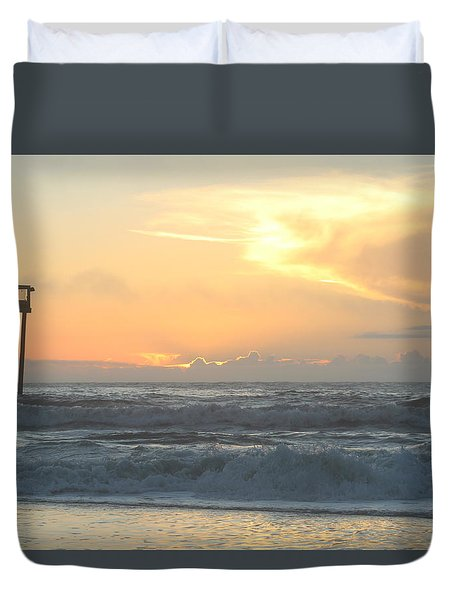 Duvet Cover featuring the photograph Moment Before Sunrise by Robert Banach