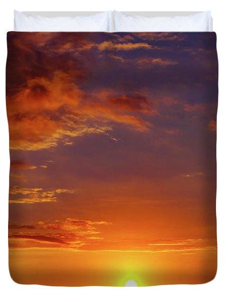 Monday Sunset Duvet Cover