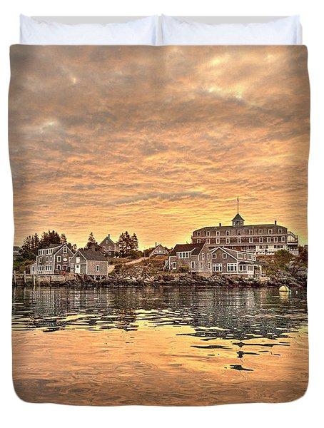 Monhegan Sunrise - Harbor View Duvet Cover