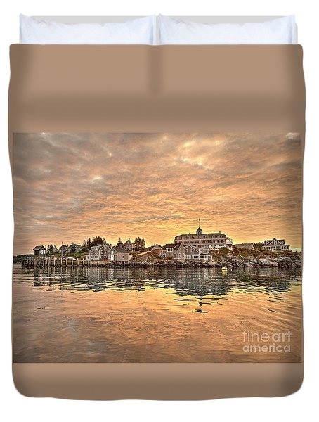 Monhegan Sunrise - Harbor View Duvet Cover