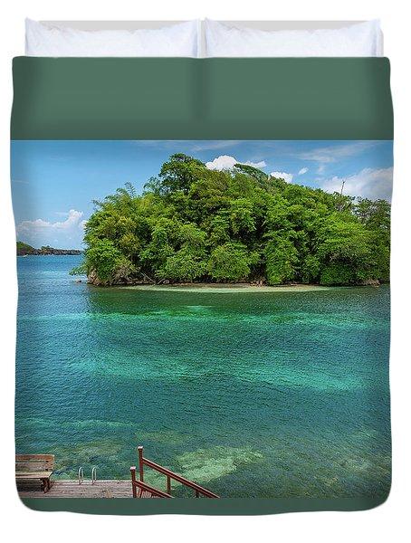 Monkey Island In Portland Jamaica Duvet Cover