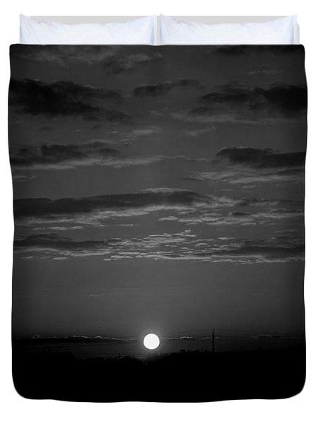 Monochrome Sunrise Duvet Cover