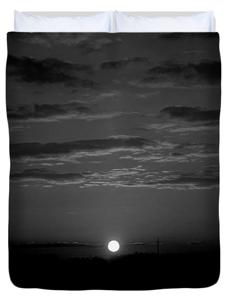 Monochrome Sunrise Duvet Cover