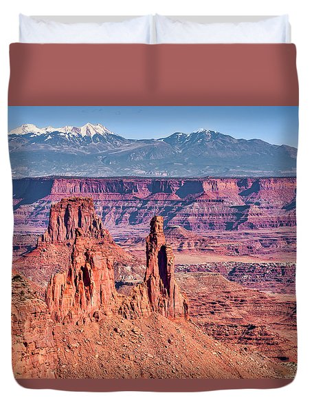 Duvet Cover featuring the photograph Monster Tower by Andy Crawford