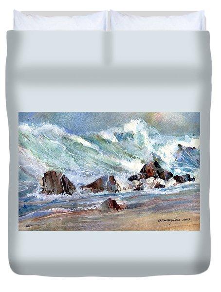 Monster Waves Duvet Cover