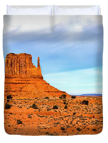Duvet Cover featuring the photograph Monument Valley by David Morefield