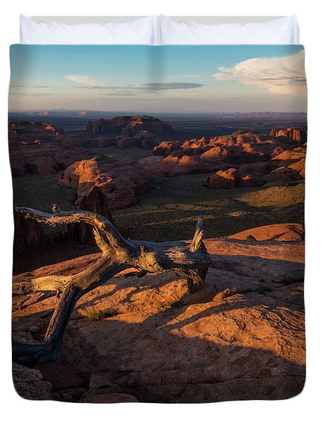 Monument Valley From Hunts Mesa Duvet Cover