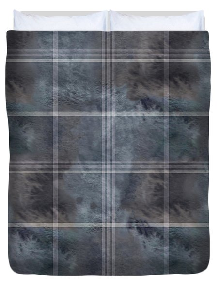 Moody Blue Plaid Duvet Cover