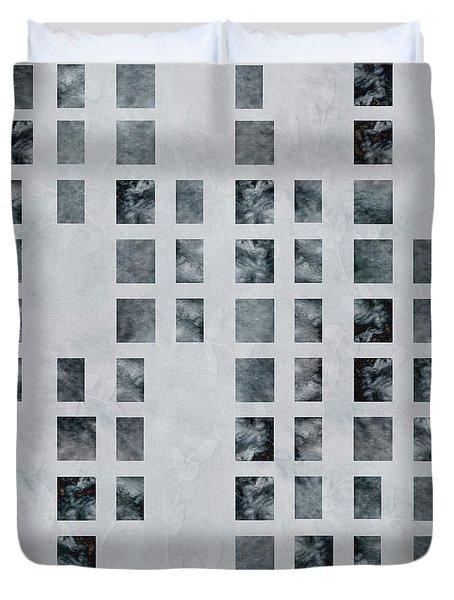 Moody Blues Data Pattern Duvet Cover