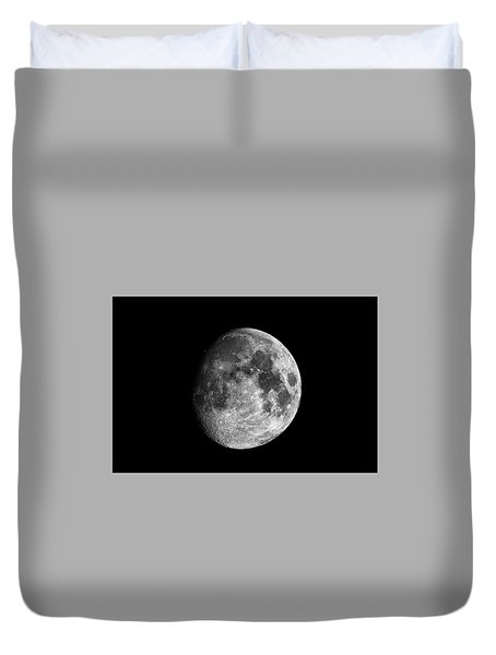 Duvet Cover featuring the photograph Moon by Grant Glendinning