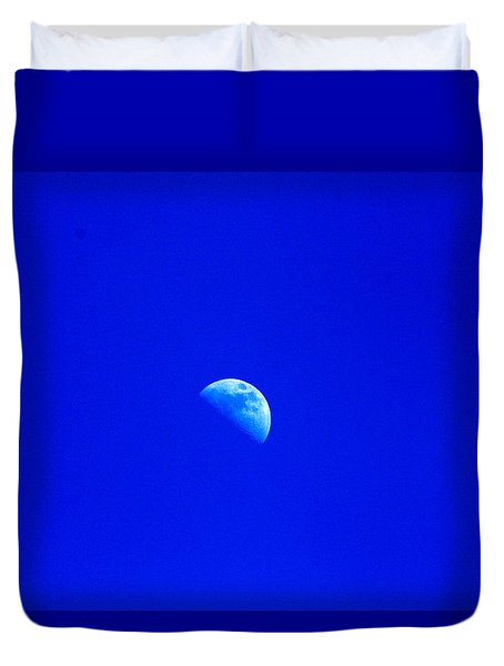 Moon In A Daytime Sky Duvet Cover