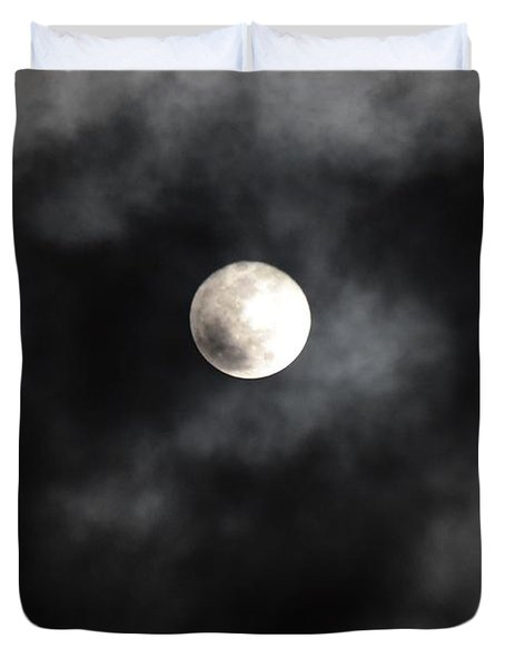 Moon In The Still Of The Night Duvet Cover