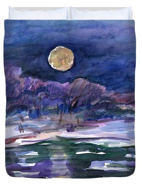 Moon Landscape Duvet Cover