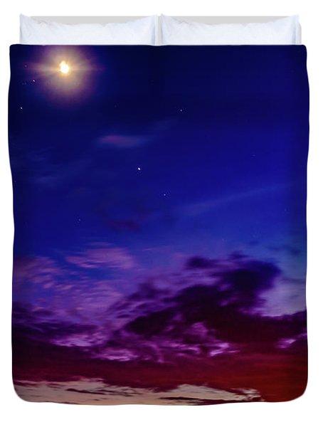 Moon Sky Duvet Cover