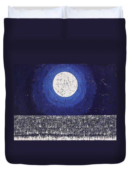 Moonbathing Original Painting Duvet Cover