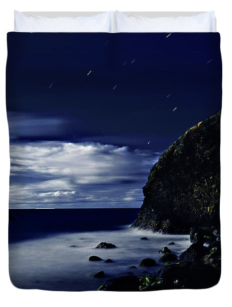 Moonlight At Argyle Duvet Cover