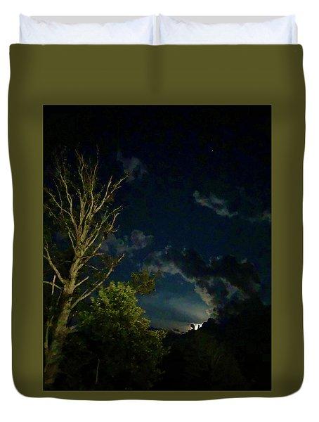 Moonlight In The Trees Duvet Cover