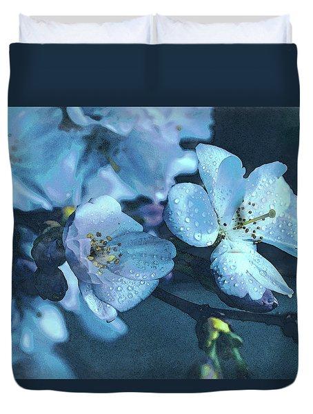 Moonlit Night In The Blooming Garden Duvet Cover