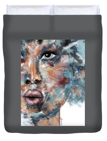 Moonshine-woman Abstract Art Duvet Cover