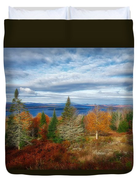 Mooselookmeguntic Lake Fall Colors Duvet Cover