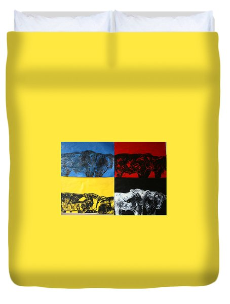 Mooving Out Of Our Land Duvet Cover