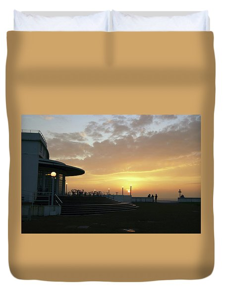 Morecambe. Evening On The Bay Duvet Cover
