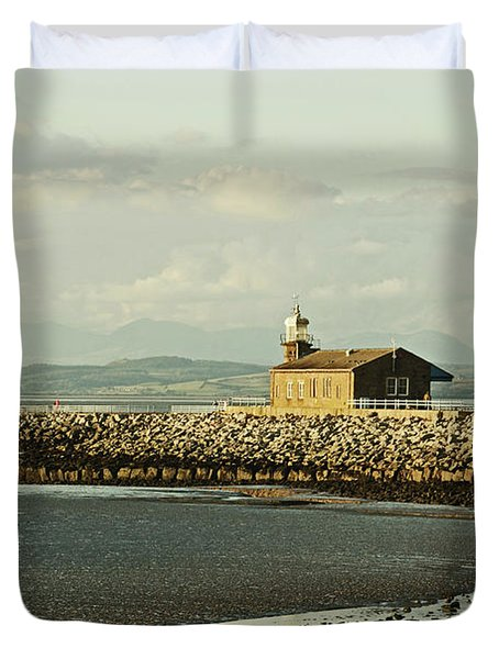 Morecambe. The Stone Jetty. Duvet Cover